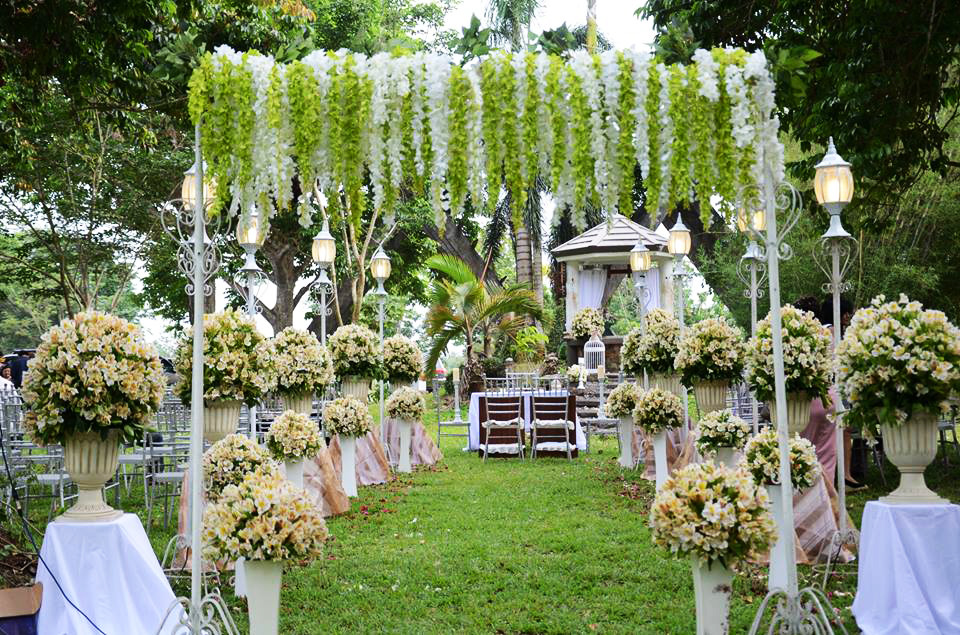 haciendas de naga outdoor wedding