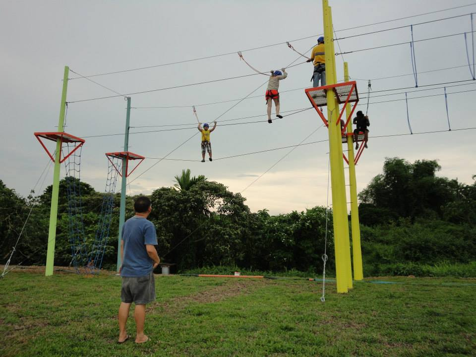 high ropes adventure team building at haciendas de naga