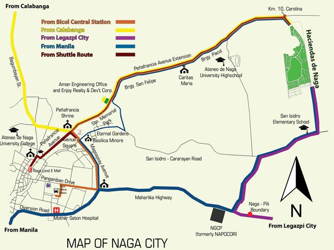 Haciendas De Naga Vicinity Map and Directions