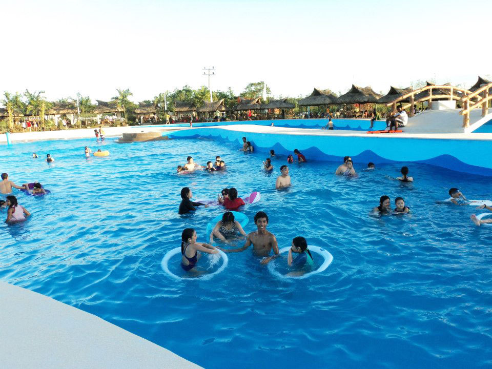 wave pool and raging river haciendas de naga
