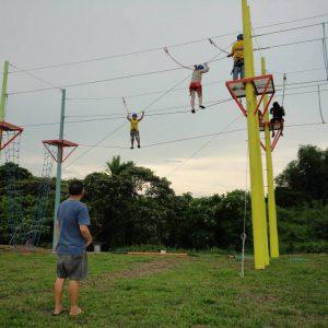 high ropes adventure team building at haciendas de naga