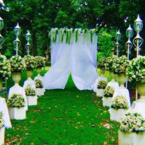 haciendas de naga outdoor wedding setup